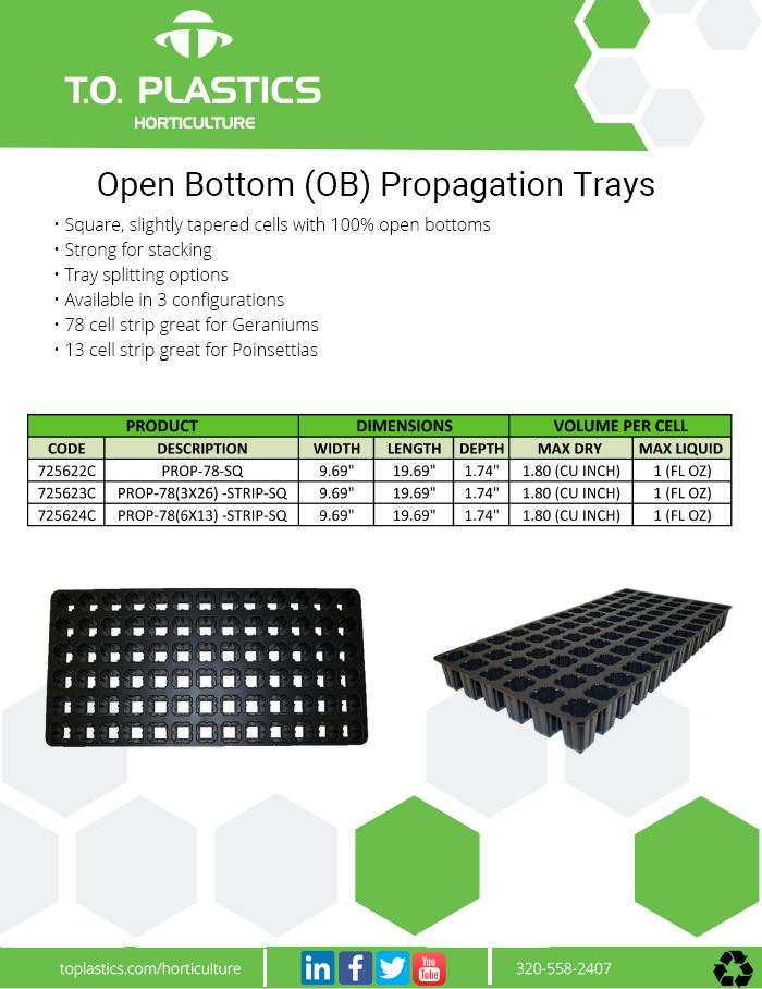 Open Bottom Trays