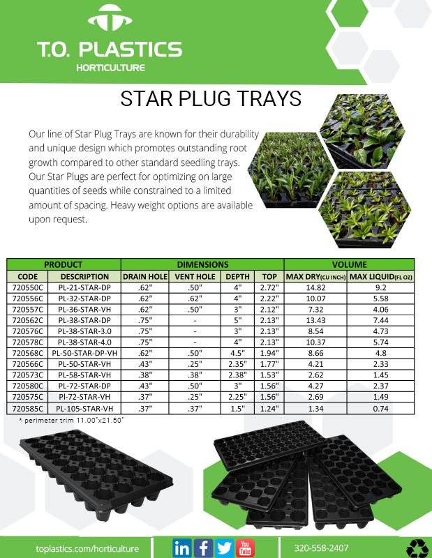 Star Plug Trays